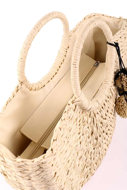 meliebiancoのErin(Natural)半円型かごバッグ/海外ファッション好きにオススメのインポートバッグとかばん、MelieBianco(メリービアンコ)のバッグやその他。真夏の太陽が恋しくなるようなオシャレなかごバッグ。持ち手から延びる放射状の網目が目を引きます。/main-17