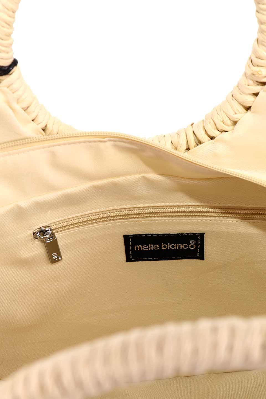 meliebiancoのErin(Natural)半円型かごバッグ/海外ファッション好きにオススメのインポートバッグとかばん、MelieBianco(メリービアンコ)のバッグやその他。真夏の太陽が恋しくなるようなオシャレなかごバッグ。持ち手から延びる放射状の網目が目を引きます。/main-19