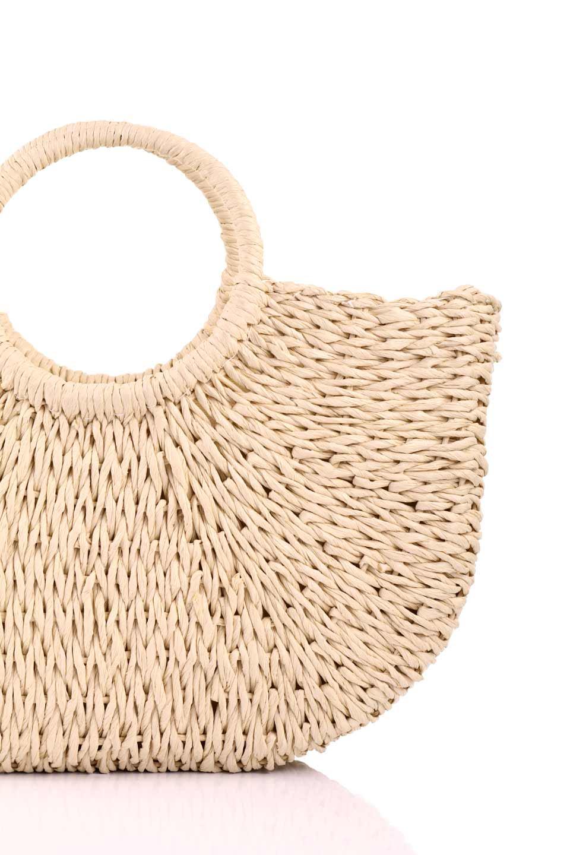 meliebiancoのErin(Natural)半円型かごバッグ/海外ファッション好きにオススメのインポートバッグとかばん、MelieBianco(メリービアンコ)のバッグやその他。真夏の太陽が恋しくなるようなオシャレなかごバッグ。持ち手から延びる放射状の網目が目を引きます。/main-5