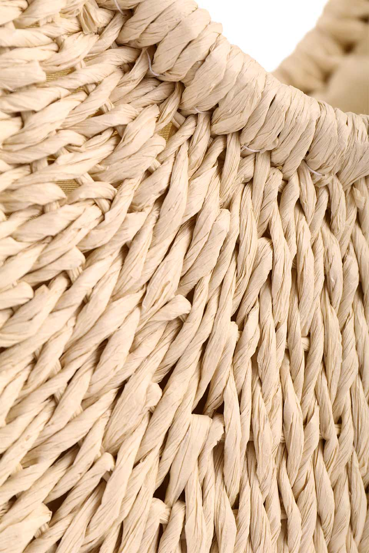 meliebiancoのErin(Natural)半円型かごバッグ/海外ファッション好きにオススメのインポートバッグとかばん、MelieBianco(メリービアンコ)のバッグやその他。真夏の太陽が恋しくなるようなオシャレなかごバッグ。持ち手から延びる放射状の網目が目を引きます。/main-8