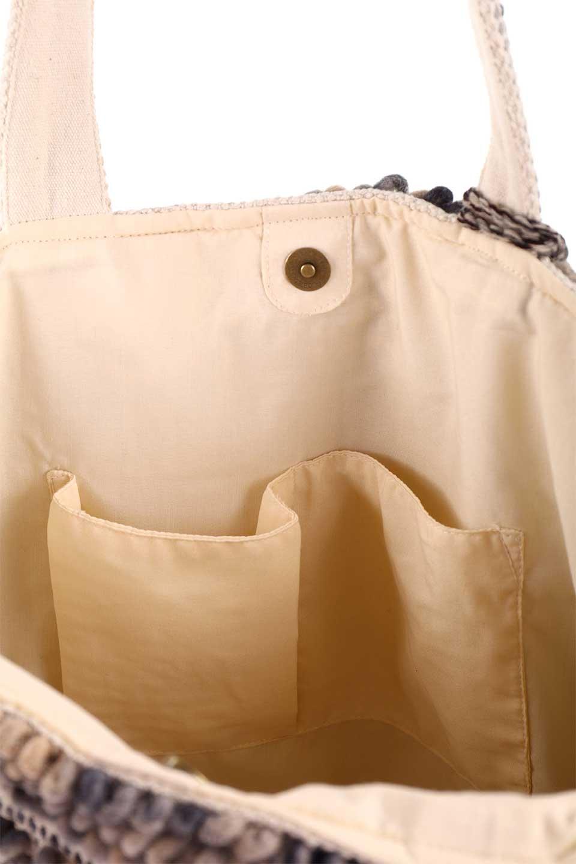 LOVESTITCHのCatalinaToteオルテガ・ポンポントートバッグ/海外ファッションが好きな大人カジュアルのためのLOVESTITCH(ラブステッチ)のバッグやトートバッグ。オルテガ柄にポンポンをデザインした大き目トートバッグ。カーペットのようなしっかりした生地なので長く愛用できます。/main-21