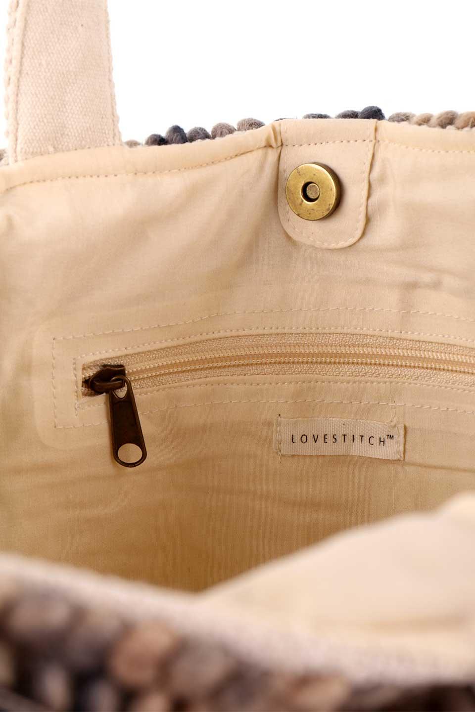 LOVESTITCHのCatalinaToteオルテガ・ポンポントートバッグ/海外ファッションが好きな大人カジュアルのためのLOVESTITCH(ラブステッチ)のバッグやトートバッグ。オルテガ柄にポンポンをデザインした大き目トートバッグ。カーペットのようなしっかりした生地なので長く愛用できます。/main-22