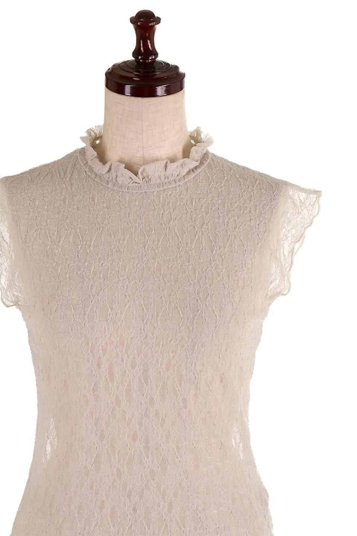 SleevelessLaceTopストレッチ・総レーストップス大人カジュアルに最適な海外ファッションのothers(その他インポートアイテム)のトップスやシャツ・ブラウス。襟元と袖口のフリルが可愛い総レースのトップス。レイヤードのコーデが楽しめる総レースのアイテム。/main-15