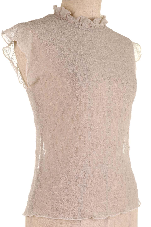 SleevelessLaceTopストレッチ・総レーストップス大人カジュアルに最適な海外ファッションのothers(その他インポートアイテム)のトップスやシャツ・ブラウス。襟元と袖口のフリルが可愛い総レースのトップス。レイヤードのコーデが楽しめる総レースのアイテム。/main-18