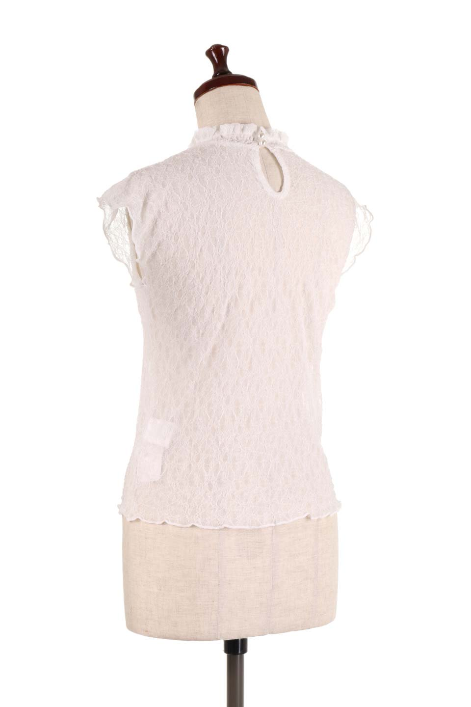SleevelessLaceTopストレッチ・総レーストップス大人カジュアルに最適な海外ファッションのothers(その他インポートアイテム)のトップスやシャツ・ブラウス。襟元と袖口のフリルが可愛い総レースのトップス。レイヤードのコーデが楽しめる総レースのアイテム。/main-8