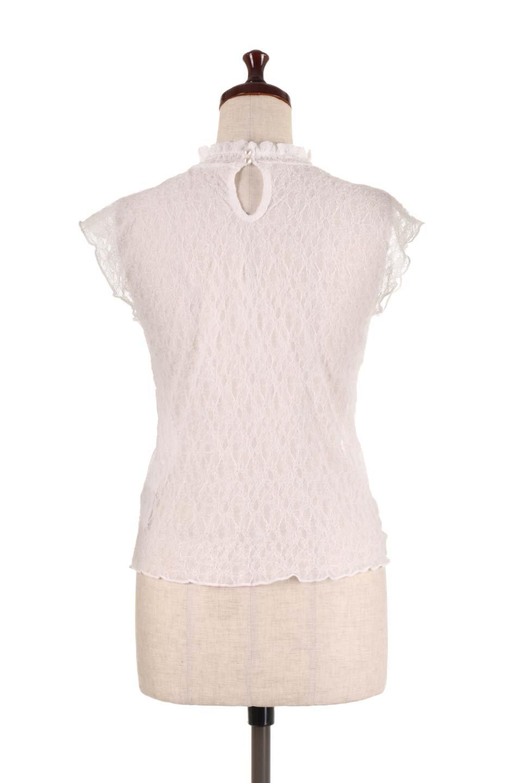 SleevelessLaceTopストレッチ・総レーストップス大人カジュアルに最適な海外ファッションのothers(その他インポートアイテム)のトップスやシャツ・ブラウス。襟元と袖口のフリルが可愛い総レースのトップス。レイヤードのコーデが楽しめる総レースのアイテム。/main-9