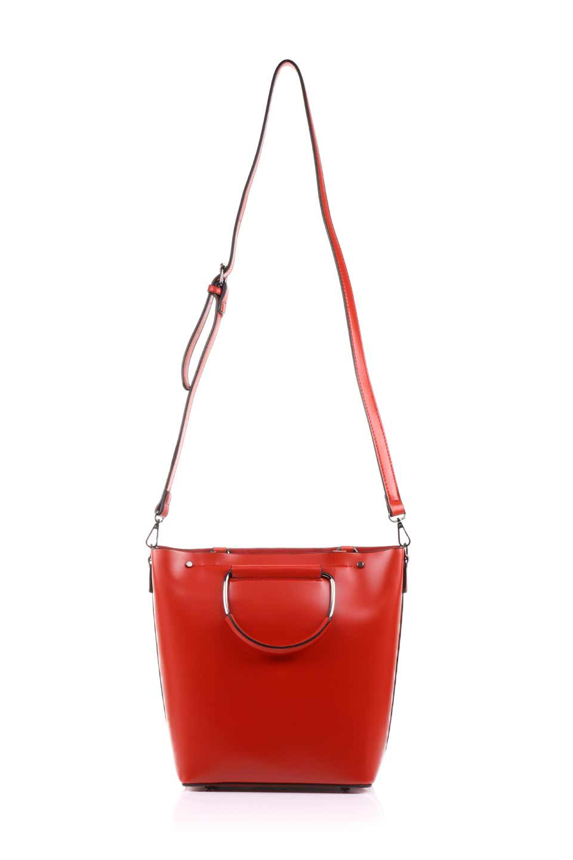 meliebiancoのBlanche(Red)グロスレザー・3WAYハンドバッグ/海外ファッション好きにオススメのインポートバッグとかばん、MelieBianco(メリービアンコ)のバッグやハンドバッグ。しっとりとしたグロスタイプのビーガンレザーを使用した高級感あふれるハンドバッグ。予約の時より店頭で実物をご覧になった方達に人気があるバッグです。/main-13