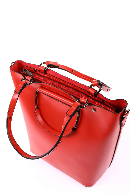 meliebiancoのBlanche(Red)グロスレザー・3WAYハンドバッグ/海外ファッション好きにオススメのインポートバッグとかばん、MelieBianco(メリービアンコ)のバッグやハンドバッグ。しっとりとしたグロスタイプのビーガンレザーを使用した高級感あふれるハンドバッグ。予約の時より店頭で実物をご覧になった方達に人気があるバッグです。/main-16