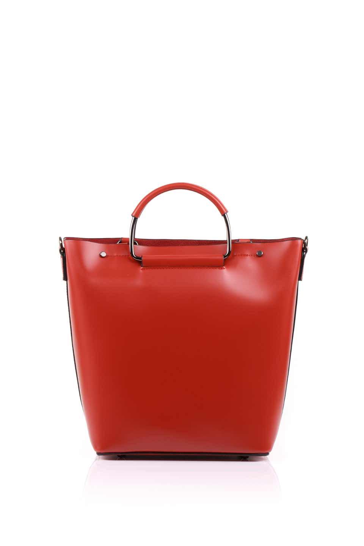meliebiancoのBlanche(Red)グロスレザー・3WAYハンドバッグ/海外ファッション好きにオススメのインポートバッグとかばん、MelieBianco(メリービアンコ)のバッグやハンドバッグ。しっとりとしたグロスタイプのビーガンレザーを使用した高級感あふれるハンドバッグ。予約の時より店頭で実物をご覧になった方達に人気があるバッグです。/main-5