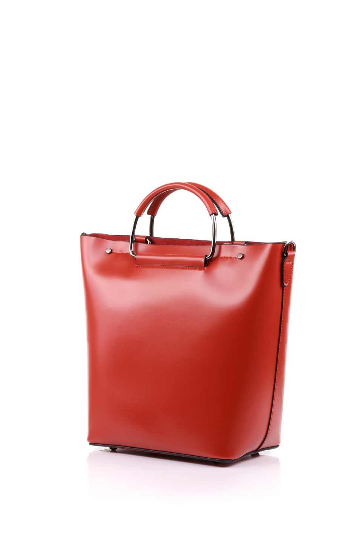meliebiancoのBlanche(Red)グロスレザー・3WAYハンドバッグ/海外ファッション好きにオススメのインポートバッグとかばん、MelieBianco(メリービアンコ)のバッグやハンドバッグ。しっとりとしたグロスタイプのビーガンレザーを使用した高級感あふれるハンドバッグ。予約の時より店頭で実物をご覧になった方達に人気があるバッグです。/main-6