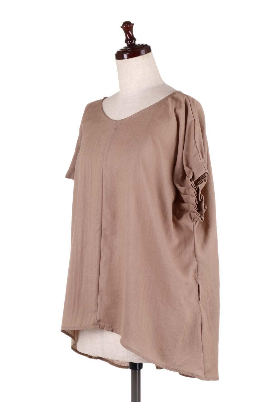 SlubGauzeDolmanBlouseレーヨンスラブガーゼ・ドルマンブラウス大人カジュアルに最適な海外ファッションのothers(その他インポートアイテム)のトップスやシャツ・ブラウス。ムラ糸を使用した夏素材が嬉しいドルマンスリーブのブラウス。生地はレーヨン100%のスラブガーゼでテロテロの質感がです。/main-21