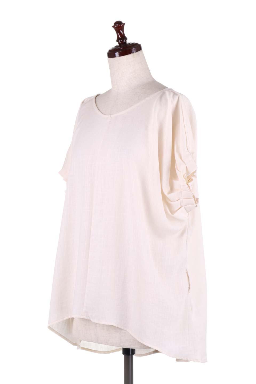 SlubGauzeDolmanBlouseレーヨンスラブガーゼ・ドルマンブラウス大人カジュアルに最適な海外ファッションのothers(その他インポートアイテム)のトップスやシャツ・ブラウス。ムラ糸を使用した夏素材が嬉しいドルマンスリーブのブラウス。生地はレーヨン100%のスラブガーゼでテロテロの質感がです。/main-25