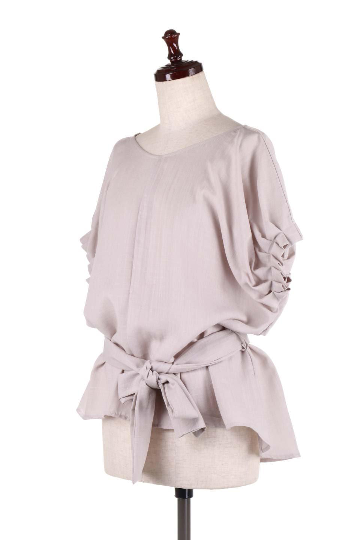 SlubGauzeDolmanBlouseレーヨンスラブガーゼ・ドルマンブラウス大人カジュアルに最適な海外ファッションのothers(その他インポートアイテム)のトップスやシャツ・ブラウス。ムラ糸を使用した夏素材が嬉しいドルマンスリーブのブラウス。生地はレーヨン100%のスラブガーゼでテロテロの質感がです。/main-6