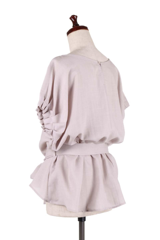 SlubGauzeDolmanBlouseレーヨンスラブガーゼ・ドルマンブラウス大人カジュアルに最適な海外ファッションのothers(その他インポートアイテム)のトップスやシャツ・ブラウス。ムラ糸を使用した夏素材が嬉しいドルマンスリーブのブラウス。生地はレーヨン100%のスラブガーゼでテロテロの質感がです。/main-8