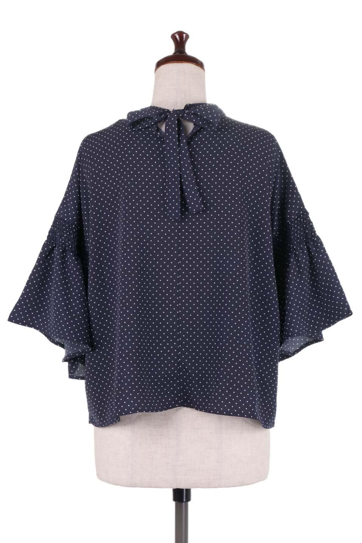 FlareSleeveDottedBlouseドットプリント・フレアスリーブブラウス大人カジュアルに最適な海外ファッションのothers(その他インポートアイテム)のトップスやシャツ・ブラウス。ヒラヒラのフレアスリーブが可愛い水玉模様のブラウス。ドットの柄が小さ目なので子供っぽくならないので人気があります。/main-14