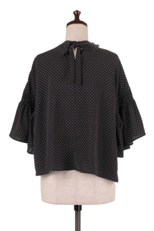 FlareSleeveDottedBlouseドットプリント・フレアスリーブブラウス大人カジュアルに最適な海外ファッションのothers(その他インポートアイテム)のトップスやシャツ・ブラウス。ヒラヒラのフレアスリーブが可愛い水玉模様のブラウス。ドットの柄が小さ目なので子供っぽくならないので人気があります。/main-19
