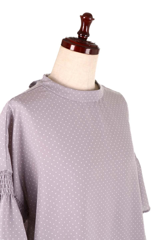 FlareSleeveDottedBlouseドットプリント・フレアスリーブブラウス大人カジュアルに最適な海外ファッションのothers(その他インポートアイテム)のトップスやシャツ・ブラウス。ヒラヒラのフレアスリーブが可愛い水玉模様のブラウス。ドットの柄が小さ目なので子供っぽくならないので人気があります。/main-20