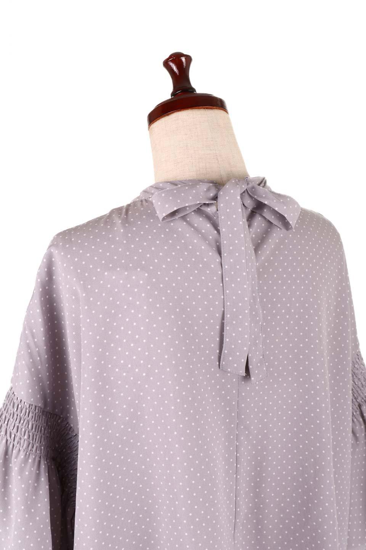 FlareSleeveDottedBlouseドットプリント・フレアスリーブブラウス大人カジュアルに最適な海外ファッションのothers(その他インポートアイテム)のトップスやシャツ・ブラウス。ヒラヒラのフレアスリーブが可愛い水玉模様のブラウス。ドットの柄が小さ目なので子供っぽくならないので人気があります。/main-21