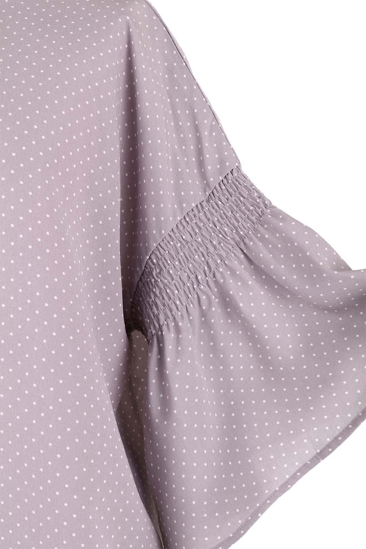 FlareSleeveDottedBlouseドットプリント・フレアスリーブブラウス大人カジュアルに最適な海外ファッションのothers(その他インポートアイテム)のトップスやシャツ・ブラウス。ヒラヒラのフレアスリーブが可愛い水玉模様のブラウス。ドットの柄が小さ目なので子供っぽくならないので人気があります。/main-24