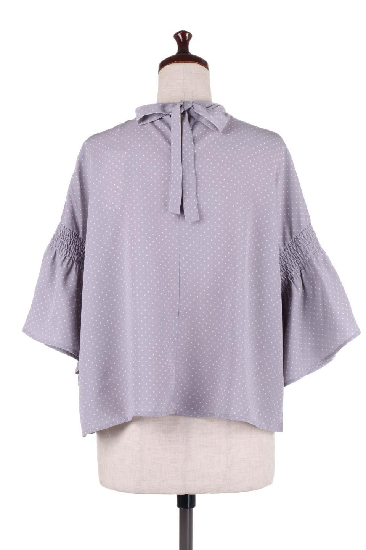FlareSleeveDottedBlouseドットプリント・フレアスリーブブラウス大人カジュアルに最適な海外ファッションのothers(その他インポートアイテム)のトップスやシャツ・ブラウス。ヒラヒラのフレアスリーブが可愛い水玉模様のブラウス。ドットの柄が小さ目なので子供っぽくならないので人気があります。/main-9