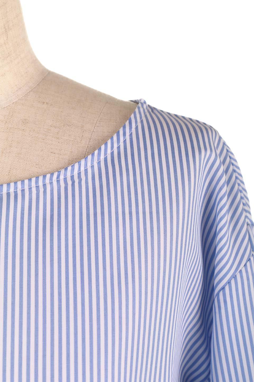 TuckSleeveStripedBlouse切り替えストライプブラウス大人カジュアルに最適な海外ファッションのothers(その他インポートアイテム)のトップスやシャツ・ブラウス。爽やかなストライプ柄のデザインブラウス。2種類のストライプ生地を用いたフレアスリーブがポイントのブラウス。/main-17