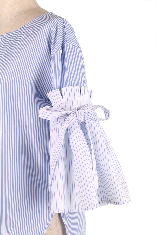 TuckSleeveStripedBlouse切り替えストライプブラウス大人カジュアルに最適な海外ファッションのothers(その他インポートアイテム)のトップスやシャツ・ブラウス。爽やかなストライプ柄のデザインブラウス。2種類のストライプ生地を用いたフレアスリーブがポイントのブラウス。/main-20