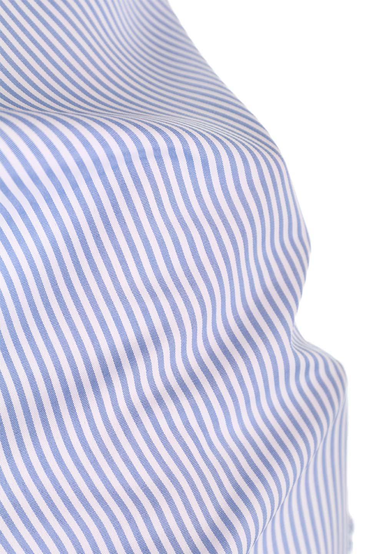 TuckSleeveStripedBlouse切り替えストライプブラウス大人カジュアルに最適な海外ファッションのothers(その他インポートアイテム)のトップスやシャツ・ブラウス。爽やかなストライプ柄のデザインブラウス。2種類のストライプ生地を用いたフレアスリーブがポイントのブラウス。/main-23