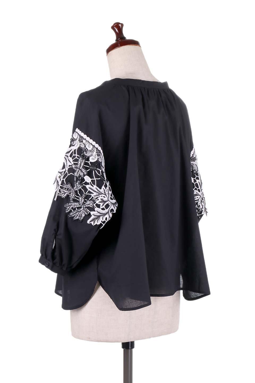 CutworkSleeveBlouseカットワーク・プルオーバーブラウス大人カジュアルに最適な海外ファッションのothers(その他インポートアイテム)のトップスやシャツ・ブラウス。袖のカットワークレースがポイントのゆったりブラウス。絶妙な丈の長さでボトムを選ばない便利アイテムです。/main-13