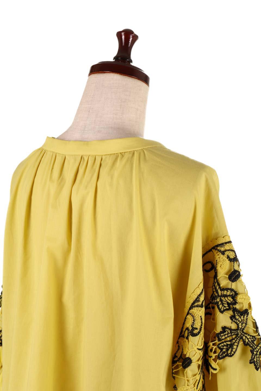 CutworkSleeveBlouseカットワーク・プルオーバーブラウス大人カジュアルに最適な海外ファッションのothers(その他インポートアイテム)のトップスやシャツ・ブラウス。袖のカットワークレースがポイントのゆったりブラウス。絶妙な丈の長さでボトムを選ばない便利アイテムです。/main-17