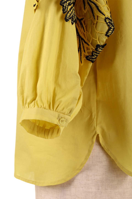 CutworkSleeveBlouseカットワーク・プルオーバーブラウス大人カジュアルに最適な海外ファッションのothers(その他インポートアイテム)のトップスやシャツ・ブラウス。袖のカットワークレースがポイントのゆったりブラウス。絶妙な丈の長さでボトムを選ばない便利アイテムです。/main-19