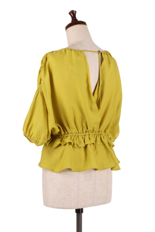 OpenBackGatherBlouse変形ドルマン・ギャザーブラウス大人カジュアルに最適な海外ファッションのothers(その他インポートアイテム)のトップスやシャツ・ブラウス。凹凸感のあるテロテロ生地が気持ち良いドルマンスリーブのブラウス。袖の部分は2段階に膨らんだ変形タイプのドルマンスリーブ。/main-13