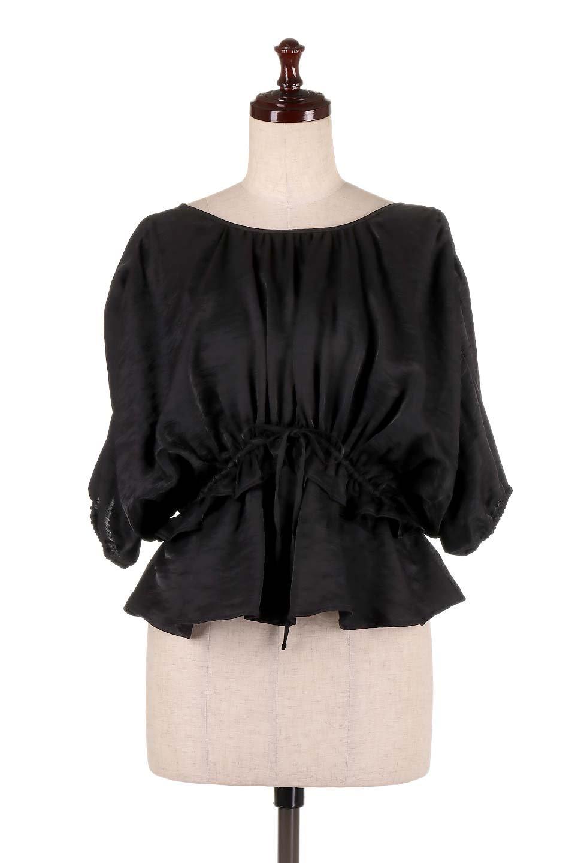 OpenBackGatherBlouse変形ドルマン・ギャザーブラウス大人カジュアルに最適な海外ファッションのothers(その他インポートアイテム)のトップスやシャツ・ブラウス。凹凸感のあるテロテロ生地が気持ち良いドルマンスリーブのブラウス。袖の部分は2段階に膨らんだ変形タイプのドルマンスリーブ。/main-15