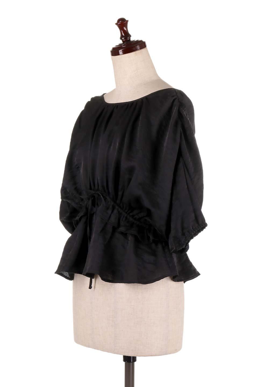 OpenBackGatherBlouse変形ドルマン・ギャザーブラウス大人カジュアルに最適な海外ファッションのothers(その他インポートアイテム)のトップスやシャツ・ブラウス。凹凸感のあるテロテロ生地が気持ち良いドルマンスリーブのブラウス。袖の部分は2段階に膨らんだ変形タイプのドルマンスリーブ。/main-16