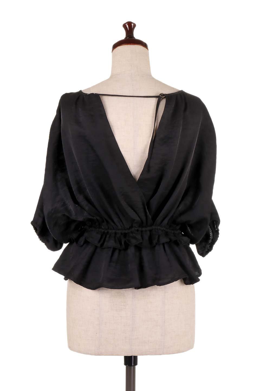 OpenBackGatherBlouse変形ドルマン・ギャザーブラウス大人カジュアルに最適な海外ファッションのothers(その他インポートアイテム)のトップスやシャツ・ブラウス。凹凸感のあるテロテロ生地が気持ち良いドルマンスリーブのブラウス。袖の部分は2段階に膨らんだ変形タイプのドルマンスリーブ。/main-19