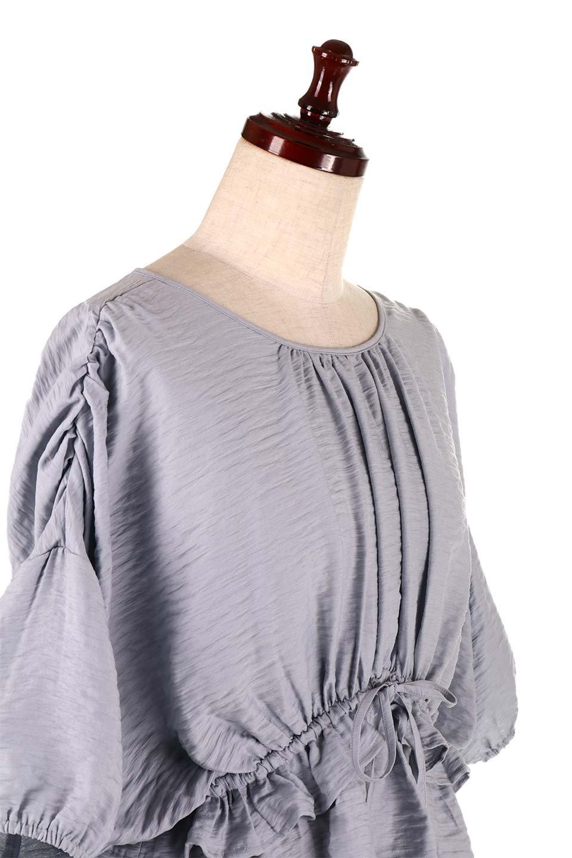 OpenBackGatherBlouse変形ドルマン・ギャザーブラウス大人カジュアルに最適な海外ファッションのothers(その他インポートアイテム)のトップスやシャツ・ブラウス。凹凸感のあるテロテロ生地が気持ち良いドルマンスリーブのブラウス。袖の部分は2段階に膨らんだ変形タイプのドルマンスリーブ。/main-20
