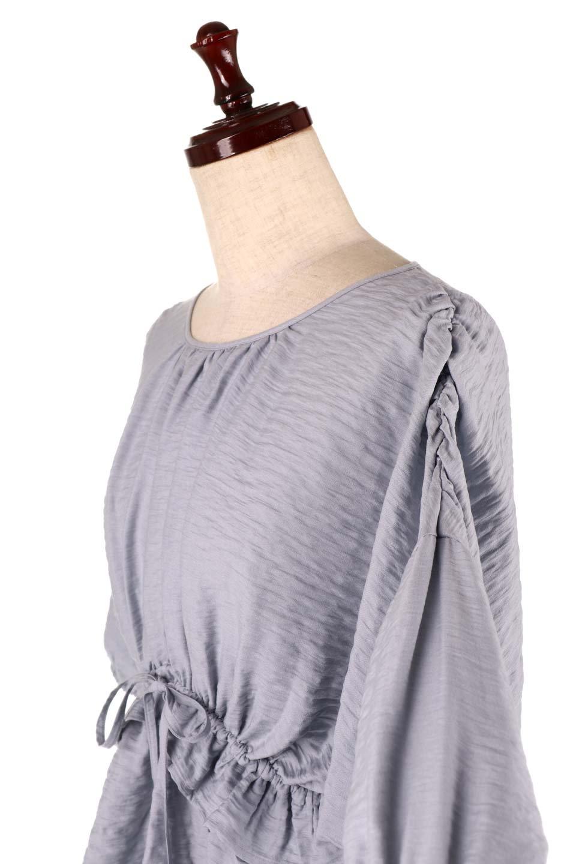OpenBackGatherBlouse変形ドルマン・ギャザーブラウス大人カジュアルに最適な海外ファッションのothers(その他インポートアイテム)のトップスやシャツ・ブラウス。凹凸感のあるテロテロ生地が気持ち良いドルマンスリーブのブラウス。袖の部分は2段階に膨らんだ変形タイプのドルマンスリーブ。/main-21