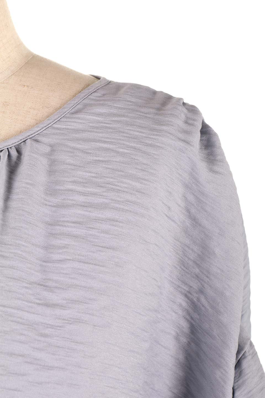 OpenBackGatherBlouse変形ドルマン・ギャザーブラウス大人カジュアルに最適な海外ファッションのothers(その他インポートアイテム)のトップスやシャツ・ブラウス。凹凸感のあるテロテロ生地が気持ち良いドルマンスリーブのブラウス。袖の部分は2段階に膨らんだ変形タイプのドルマンスリーブ。/main-22