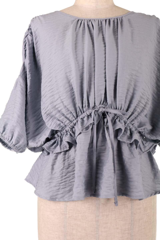 OpenBackGatherBlouse変形ドルマン・ギャザーブラウス大人カジュアルに最適な海外ファッションのothers(その他インポートアイテム)のトップスやシャツ・ブラウス。凹凸感のあるテロテロ生地が気持ち良いドルマンスリーブのブラウス。袖の部分は2段階に膨らんだ変形タイプのドルマンスリーブ。/main-24