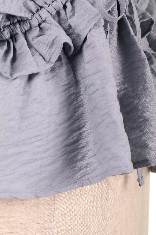 OpenBackGatherBlouse変形ドルマン・ギャザーブラウス大人カジュアルに最適な海外ファッションのothers(その他インポートアイテム)のトップスやシャツ・ブラウス。凹凸感のあるテロテロ生地が気持ち良いドルマンスリーブのブラウス。袖の部分は2段階に膨らんだ変形タイプのドルマンスリーブ。/main-26