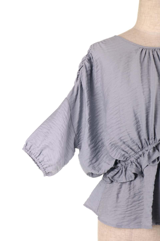 OpenBackGatherBlouse変形ドルマン・ギャザーブラウス大人カジュアルに最適な海外ファッションのothers(その他インポートアイテム)のトップスやシャツ・ブラウス。凹凸感のあるテロテロ生地が気持ち良いドルマンスリーブのブラウス。袖の部分は2段階に膨らんだ変形タイプのドルマンスリーブ。/main-29