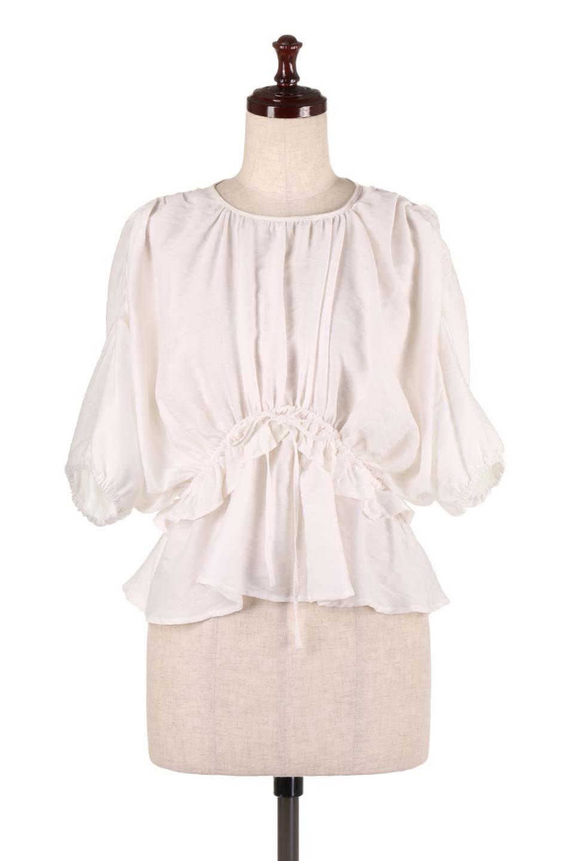 OpenBackGatherBlouse変形ドルマン・ギャザーブラウス大人カジュアルに最適な海外ファッションのothers(その他インポートアイテム)のトップスやシャツ・ブラウス。凹凸感のあるテロテロ生地が気持ち良いドルマンスリーブのブラウス。袖の部分は2段階に膨らんだ変形タイプのドルマンスリーブ。/main-5