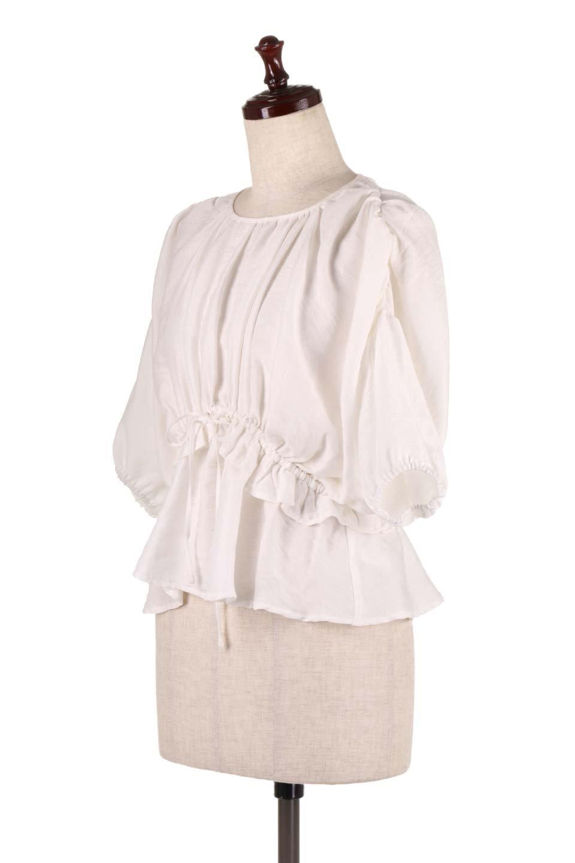 OpenBackGatherBlouse変形ドルマン・ギャザーブラウス大人カジュアルに最適な海外ファッションのothers(その他インポートアイテム)のトップスやシャツ・ブラウス。凹凸感のあるテロテロ生地が気持ち良いドルマンスリーブのブラウス。袖の部分は2段階に膨らんだ変形タイプのドルマンスリーブ。/main-6