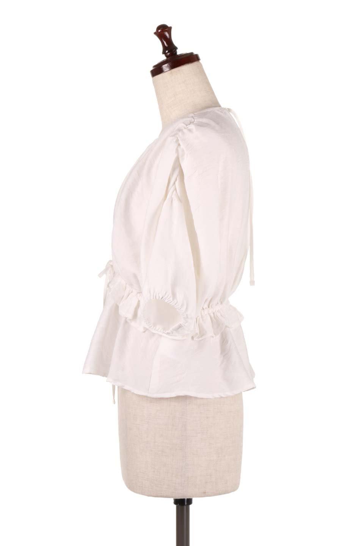 OpenBackGatherBlouse変形ドルマン・ギャザーブラウス大人カジュアルに最適な海外ファッションのothers(その他インポートアイテム)のトップスやシャツ・ブラウス。凹凸感のあるテロテロ生地が気持ち良いドルマンスリーブのブラウス。袖の部分は2段階に膨らんだ変形タイプのドルマンスリーブ。/main-7