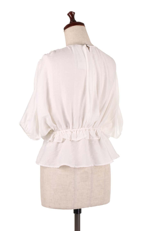 OpenBackGatherBlouse変形ドルマン・ギャザーブラウス大人カジュアルに最適な海外ファッションのothers(その他インポートアイテム)のトップスやシャツ・ブラウス。凹凸感のあるテロテロ生地が気持ち良いドルマンスリーブのブラウス。袖の部分は2段階に膨らんだ変形タイプのドルマンスリーブ。/main-8