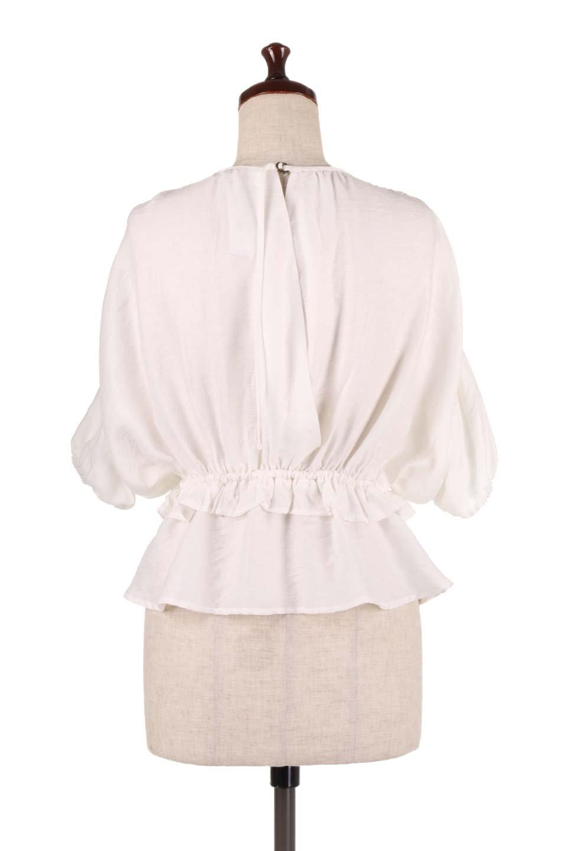 OpenBackGatherBlouse変形ドルマン・ギャザーブラウス大人カジュアルに最適な海外ファッションのothers(その他インポートアイテム)のトップスやシャツ・ブラウス。凹凸感のあるテロテロ生地が気持ち良いドルマンスリーブのブラウス。袖の部分は2段階に膨らんだ変形タイプのドルマンスリーブ。/main-9