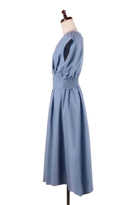 FrenchSleeveCache-CoeurDress麻混カシュクールワンピース大人カジュアルに最適な海外ファッションのothers(その他インポートアイテム)のワンピースやミディワンピース。夏にうれしい麻混素材のキレイ目なカシュクールワンピース。リネン独特な張りが綺麗なシルエットを演出してくれます。/main-12
