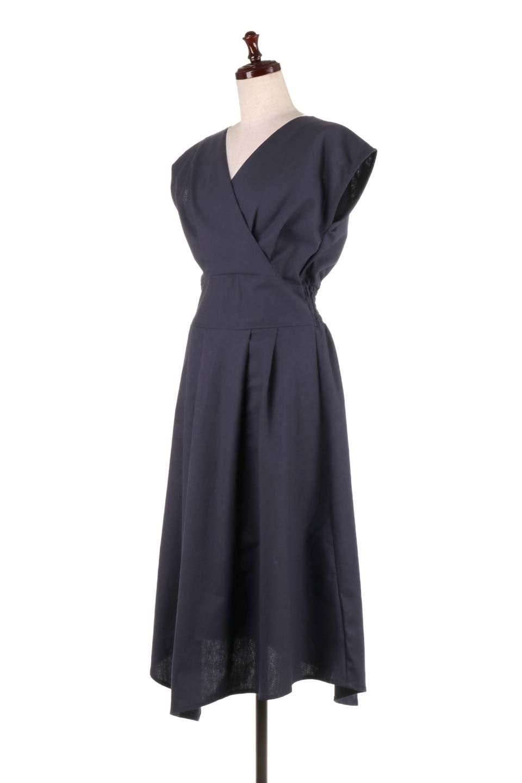 FrenchSleeveCache-CoeurDress麻混カシュクールワンピース大人カジュアルに最適な海外ファッションのothers(その他インポートアイテム)のワンピースやミディワンピース。夏にうれしい麻混素材のキレイ目なカシュクールワンピース。リネン独特な張りが綺麗なシルエットを演出してくれます。/main-16
