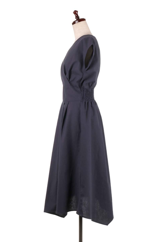 FrenchSleeveCache-CoeurDress麻混カシュクールワンピース大人カジュアルに最適な海外ファッションのothers(その他インポートアイテム)のワンピースやミディワンピース。夏にうれしい麻混素材のキレイ目なカシュクールワンピース。リネン独特な張りが綺麗なシルエットを演出してくれます。/main-17