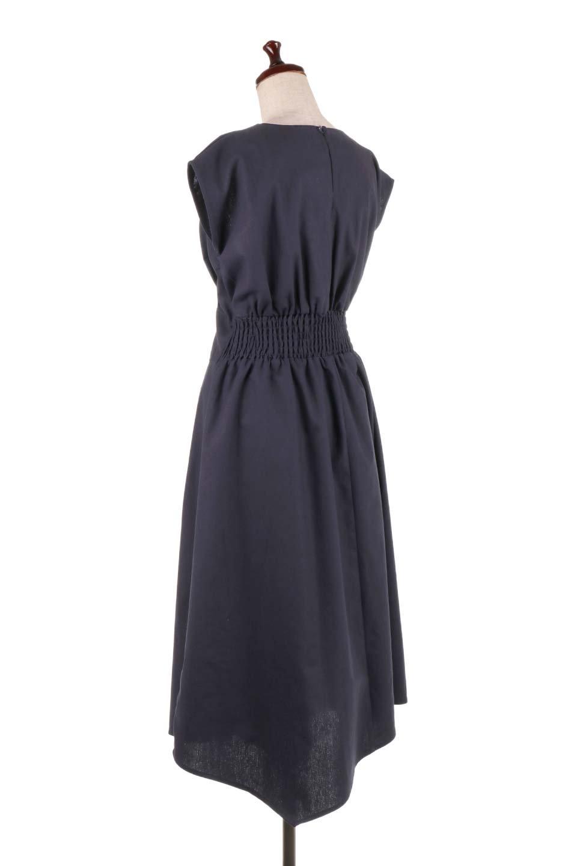 FrenchSleeveCache-CoeurDress麻混カシュクールワンピース大人カジュアルに最適な海外ファッションのothers(その他インポートアイテム)のワンピースやミディワンピース。夏にうれしい麻混素材のキレイ目なカシュクールワンピース。リネン独特な張りが綺麗なシルエットを演出してくれます。/main-18