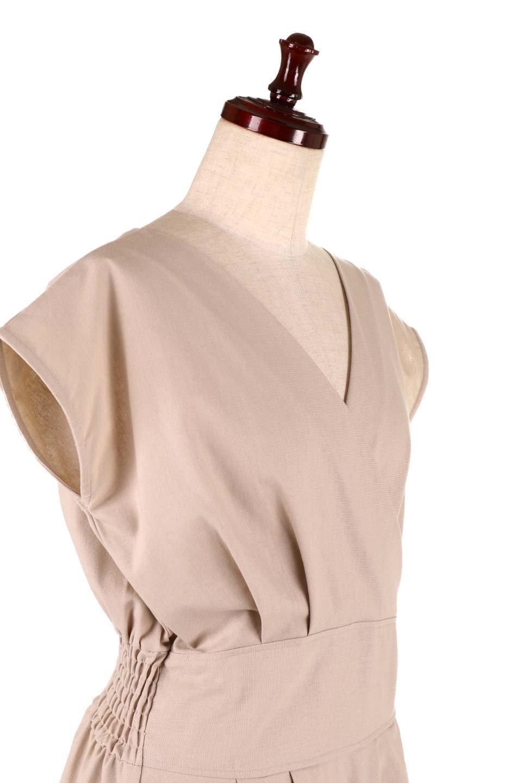 FrenchSleeveCache-CoeurDress麻混カシュクールワンピース大人カジュアルに最適な海外ファッションのothers(その他インポートアイテム)のワンピースやミディワンピース。夏にうれしい麻混素材のキレイ目なカシュクールワンピース。リネン独特な張りが綺麗なシルエットを演出してくれます。/main-20